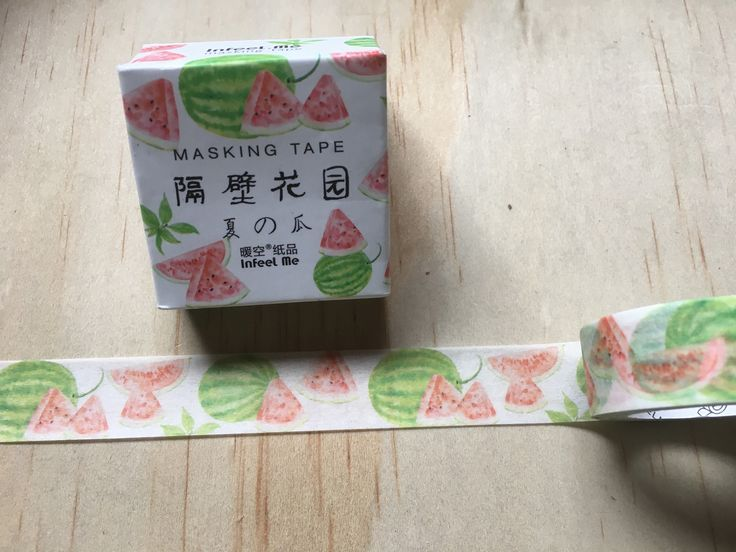 A personal favourite from my Etsy shop https://www.etsy.com/au/listing/569165427/watermelon-washi-tape-high-quality-paper