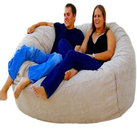 Cozy Sack 6 Feet Bean Bag Chair Large Buckskin Beanbag Beanbagchair