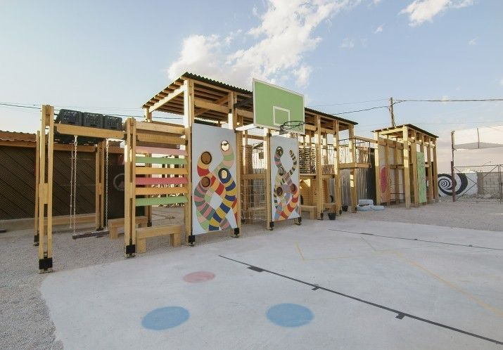 CatalyticAction Designs Playgrounds for Refugee Children in Bar Elias, Lebanon,Courtesy of CatalyticAction