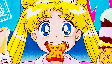 anime, sailor moon, and food image