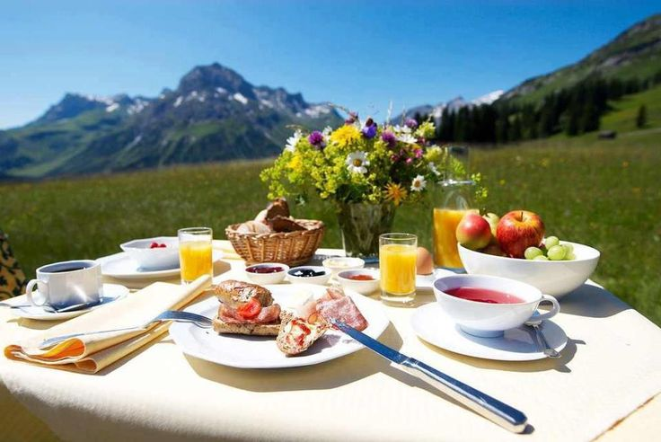 Breakfast in the mountain air... via Friessen Press