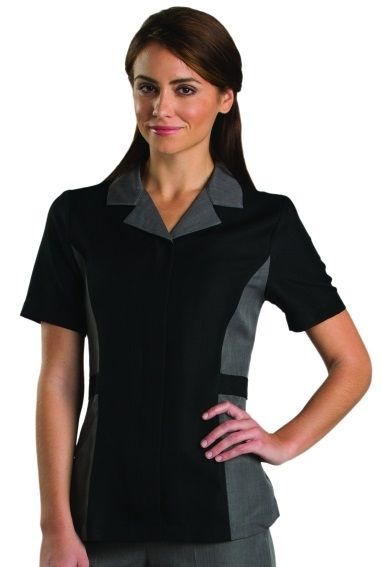 Add a bit of style to your housekeeping uniforms with this new selection from Sharper Uniforms! This selection is made using performance twill material. http://www.sharperuniforms.com/extreme-resort-ladies-housekeeping-tunics.html