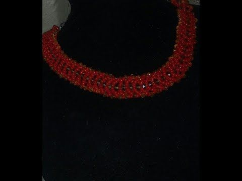 the tutorial on how to make this beautiful necklace bead he - YouTube