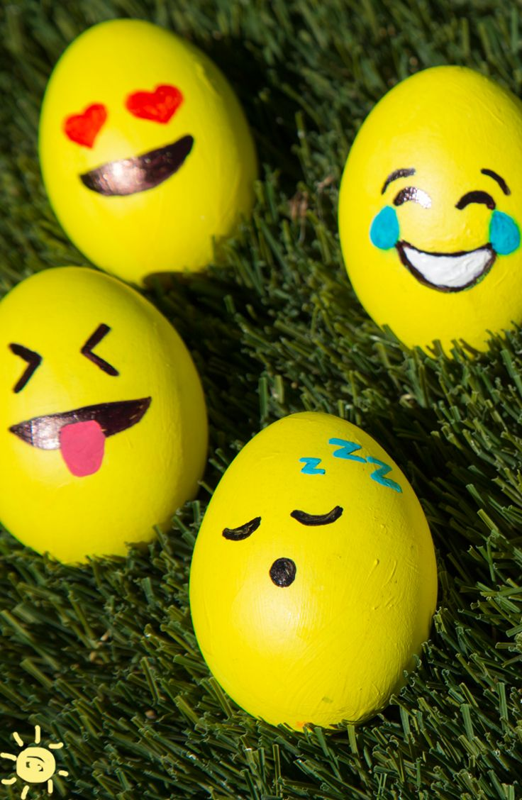 DYE FREE EASTER EGG DECORATIONS Easter Dyefree Decorations Emoji