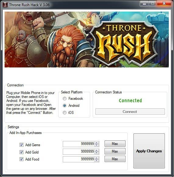 Throne rush hack tool cheats no survey or password for free download. Get…