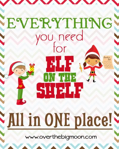 EVERYTHING you need for Elf on the Shelf! Tons of ideas and free printables all in one place! This is the one stop everything you need for Elf on the Shelf!