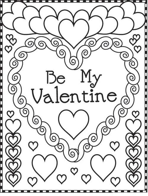 be my valentine valentine coloring pagescoloring