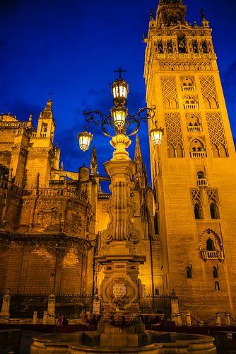 La Giralda Sevilla Cathedral at Night - Spain