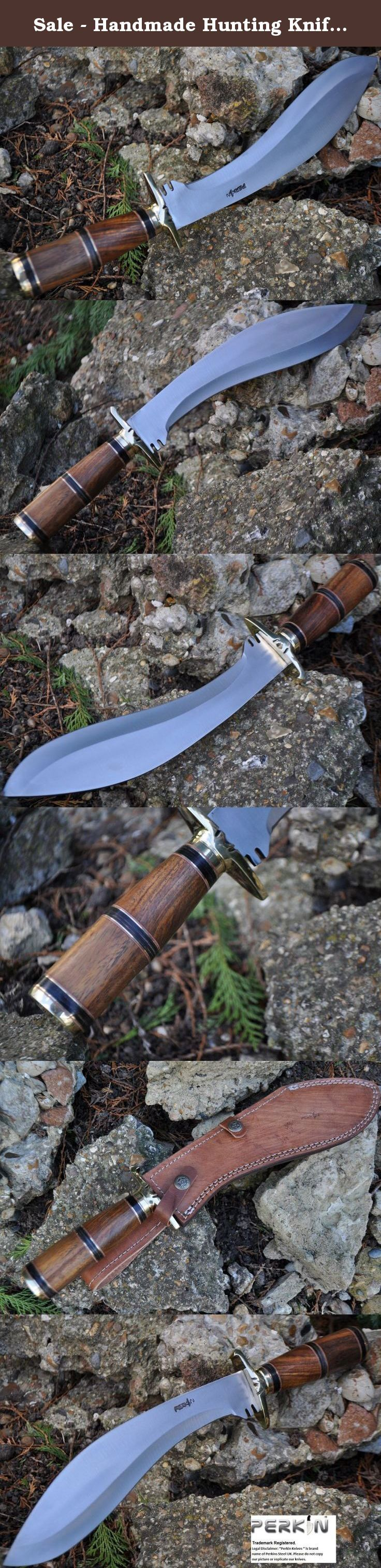 Sale - Handmade Hunting Knife - Bowie Knife - 01 Carbon Steel - Work of Art. Over all Length : 15.0 inches, blade length: 10.0 inches, Burl Wood Handle 5.0 inches . By placing an order for this product, you declare that you are 18 years of age or over. This item must be used responsibly and appropriately.