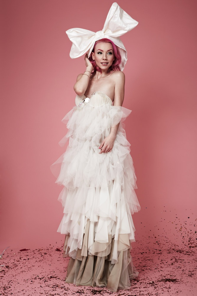 Bridal Fashion That Doesn't Suck from the bridalNEXT! 2012 Winners Dress by Federica Bruno Hairpiece by Lisa Critcher