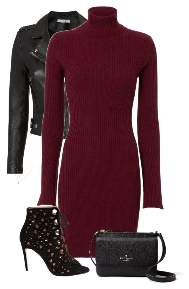 """""""Untitled #450"""" by bellaxoxx on Polyvore featuring IRO, Autumn Cashmere, Bionda Castana and Kate Spade"""