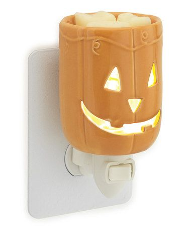 Take a look at this Orange Jack-O'-Lantern Plug-In Wax Warmer by Candle Warmers on #zulily today!