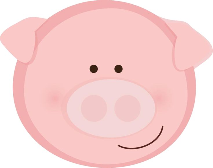 PINK PIG FACE CLIP ART