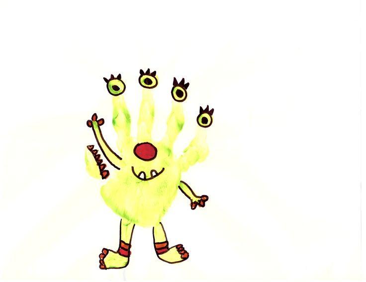 Monster Hand Prints Monster Handprint Hand And Foot