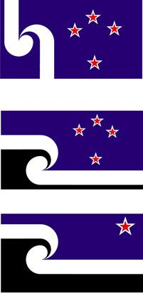 three alternative designs for the nz flag designs jeremy