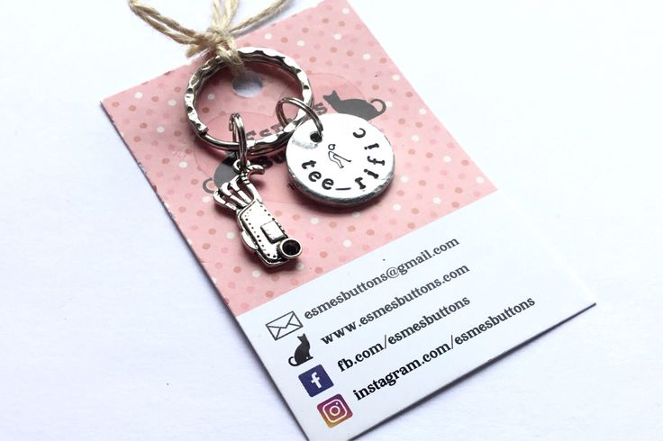 Golf gift, golfer gift, gift for Dad, Hand Stamped, Key Chain, Gift for her, Gift for him, uk seller, by EBMetalStampingCraft on Etsy https://www.etsy.com/uk/listing/525456776/golf-gift-golfer-gift-gift-for-dad-hand