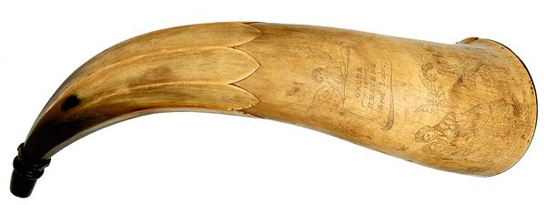 Early American Powder Horn - Cowan's Auctions