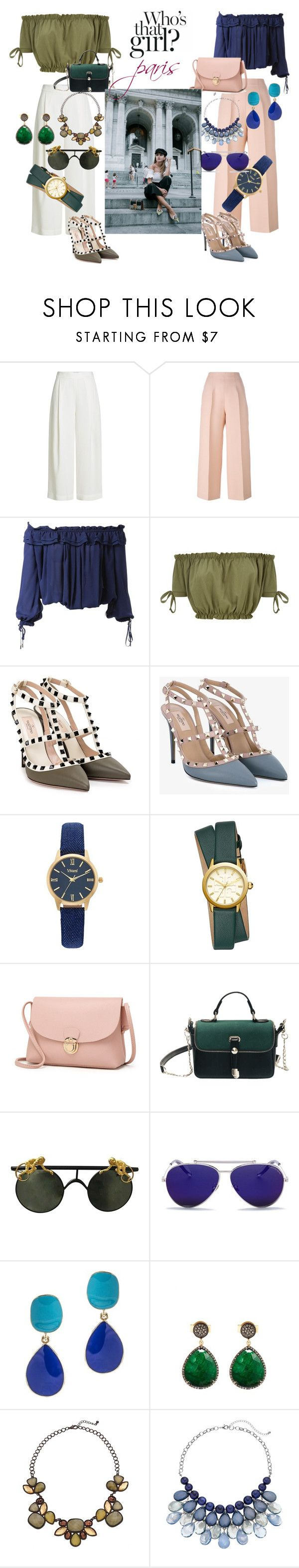 """""""me and my sis on paris"""" by karinaorengo ❤ liked on Polyvore featuring Diane Von Furstenberg, Fendi, Dsquared2, Valentino, Vivani, Tory Burch, Alexander McQueen, Kenneth Jay Lane and Liv Oliver"""
