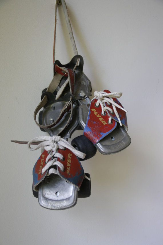 Sale retro roller skates 1970s retro decor kids room for Quirky retro gifts