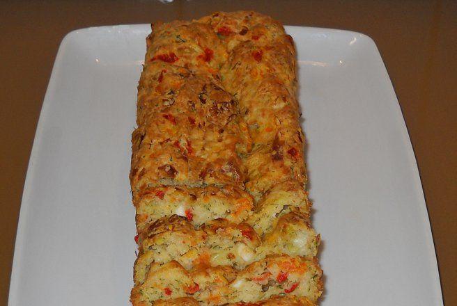 Retete Culinare - Chec aperitiv cu praz si telemea