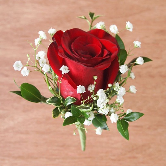 #red #rose #boutonniere by Ben White Florist.
