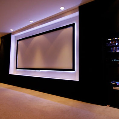 projection screen backlit for dream house