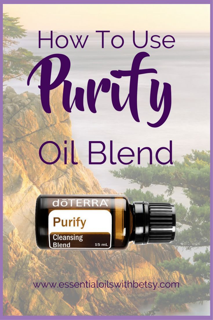 doTERRA Purify Essential Oil Cleansing Blend  doTERRA Purify cleansing blend of essential oils is useful for everyone.  Especially families with pets,  small children,  or teenagers.  Why?  Because Purify is WONDERFUL for getting rid of undesirable odors!