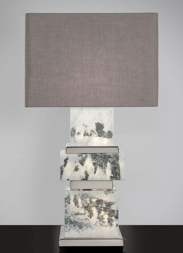 Naxos triple illuminated lamp with polish nickel details