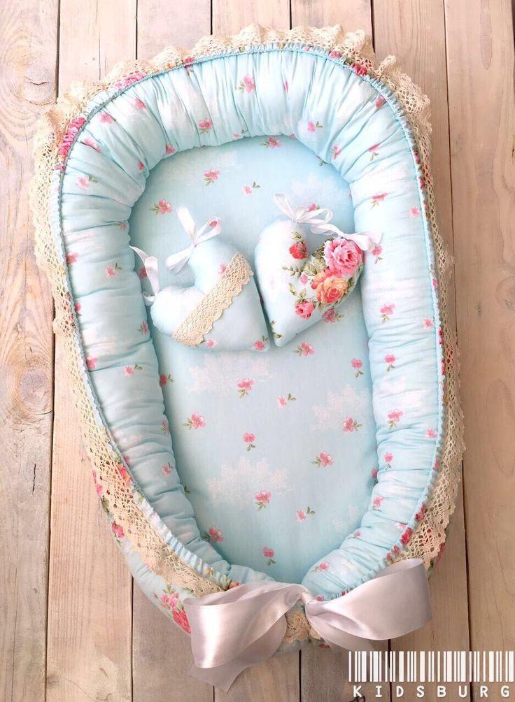 Купить Кокон для новорожденного Luxury Flower - хлопок, холлофайбер, кружево…