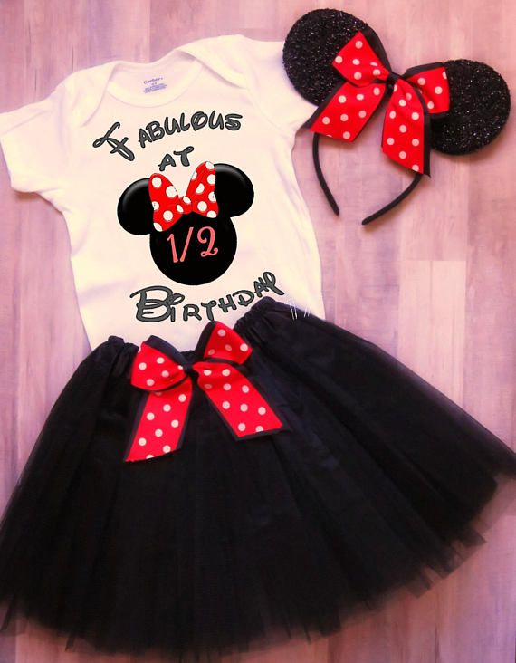 Minnie Mouse Half Birthday Outfit Half Birthday Outfit