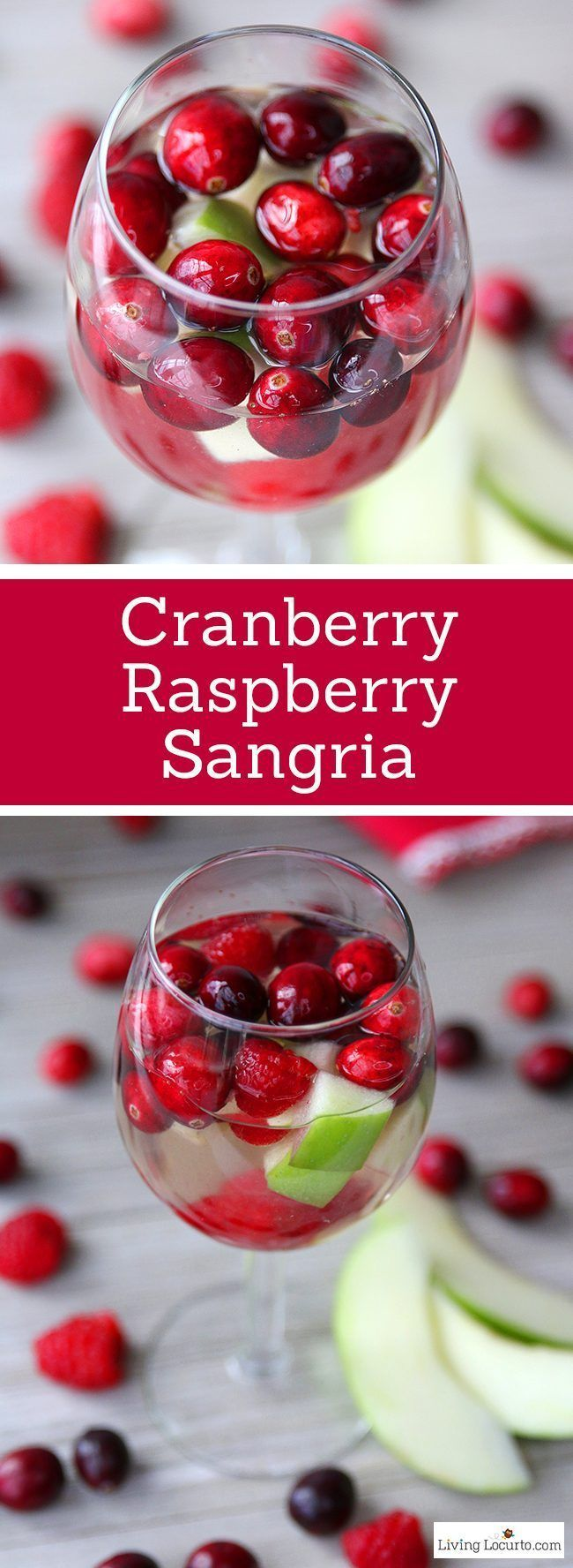 Cranberry Raspberry Sangria made with white wine and raspberry liqueur ...