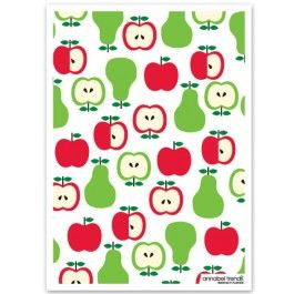 Apples and Pears Linen Tea Towel from Sarah J Home Decor. $16.95