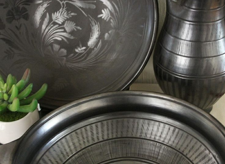 Look at the gorgeous textures on this trio from  PIROSKA's black ceramic collection. Each design is hand etched which makes every piece unique. Visit www.piroska,com.au to see these and other beauties.