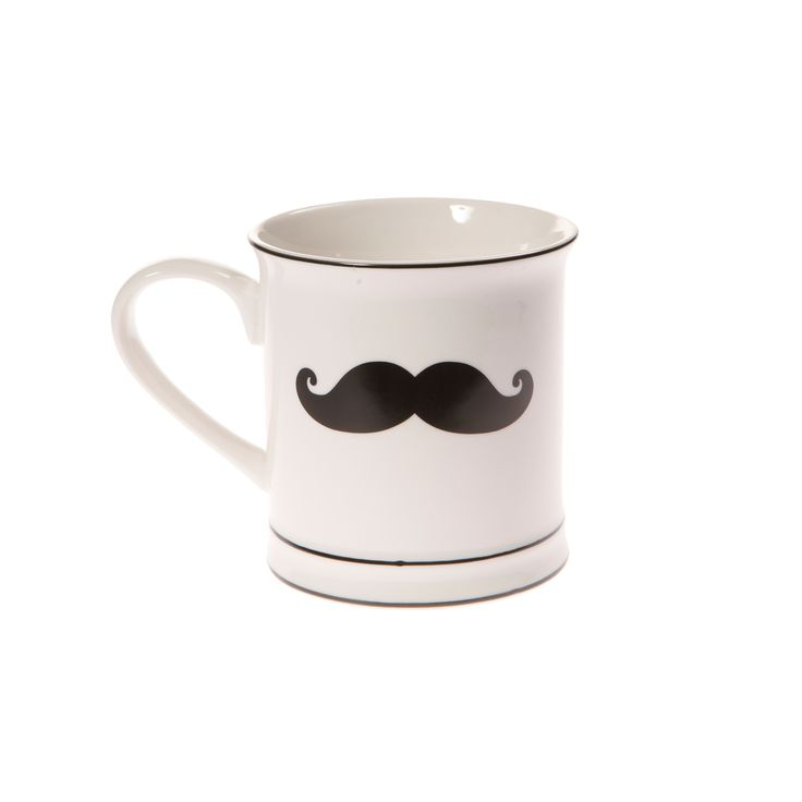 Moustache ceramic mug. Buy here http://www.smallthings.gr/shop/cooking-room-2/moustache-mug/#.VL-tby53AxI