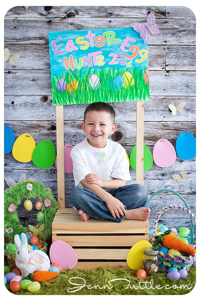 Kids Calendar Shoot : Easter mini session props children calendar photo ideas