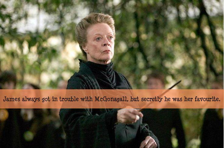 James was one of McGonagalls favourites.