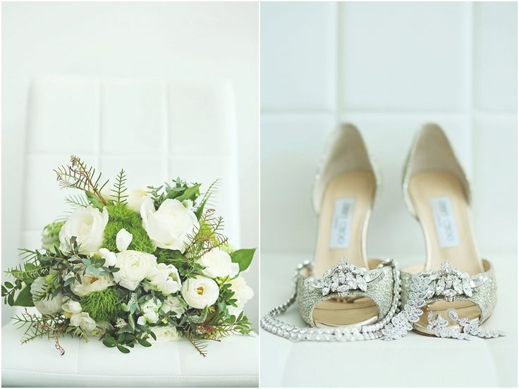 """Photography: K Thompson Photography  Ceremony and Reception Venue: Royal Canadian Yacht Club, Toronto, Ontario  Bride's Shoes: Jimmy Choo """"Maria d'Orsay"""" glitter jewelled pumps."""