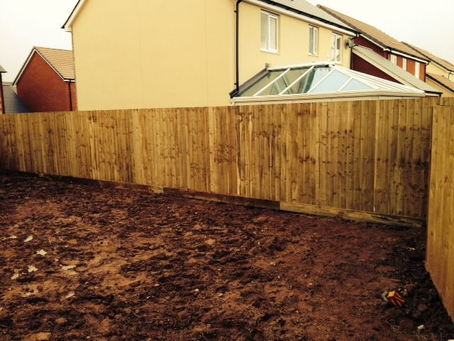 """Here is an example of some """"feather edge/close board"""" fencing we recently installed in Wellington, Tauton."""