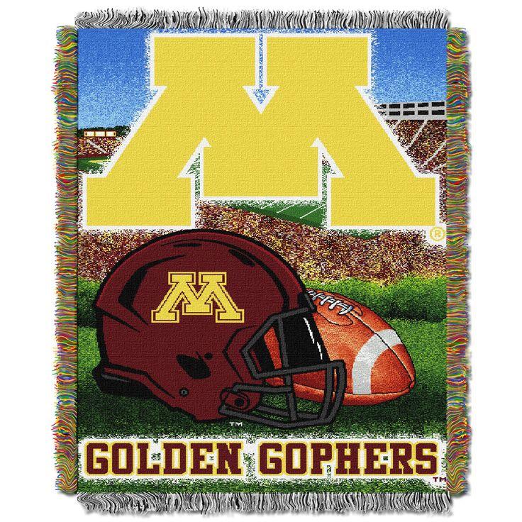 "Minnesota College """"Home Field Advantage"""" 48x60 Tapestry Throw"