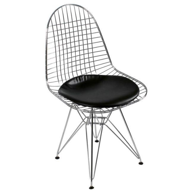 Dining chair with black cushion www.inart.com