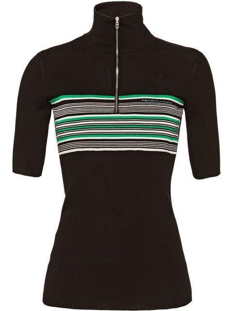 91dd1efe7 Prada Short-sleeved Silk Sweater - Farfetch | SHOPPING | Sweaters ...