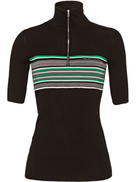 7c08ac6da Prada Short-sleeved Silk Sweater - Farfetch | SHOPPING | Sweaters ...