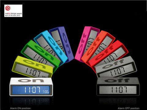 Flip Alarm Clock - Aluminum