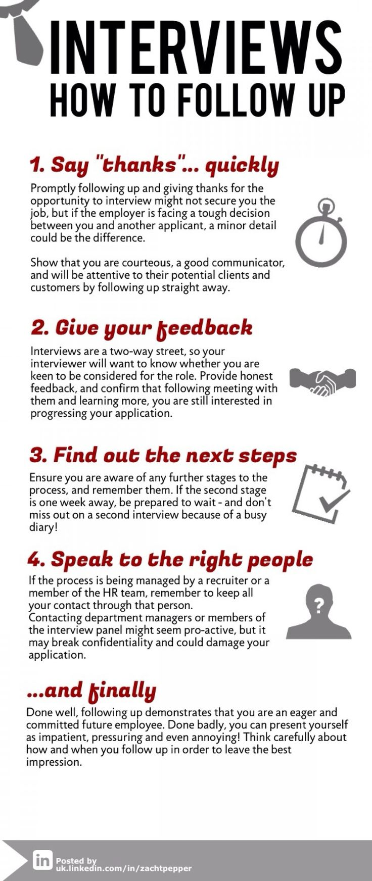 great tips for following up after an interview