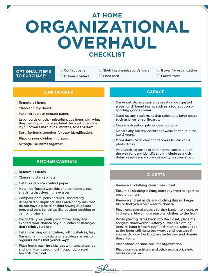 DIY Home Organization Checklist