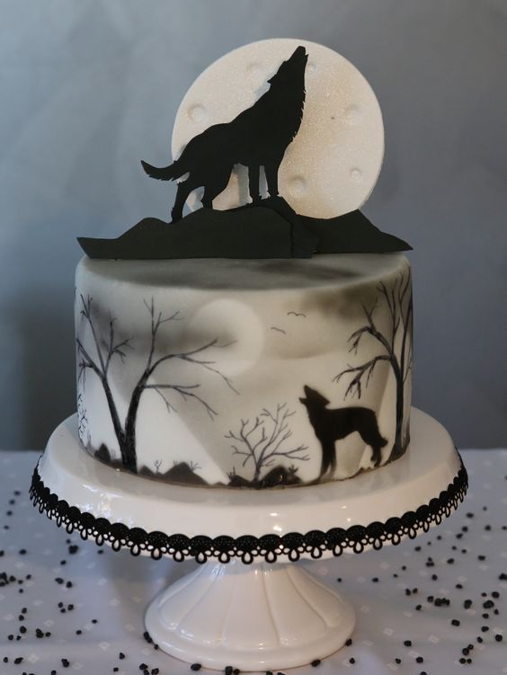 Halloween Kuchen Wolf Pie   – Kuchen