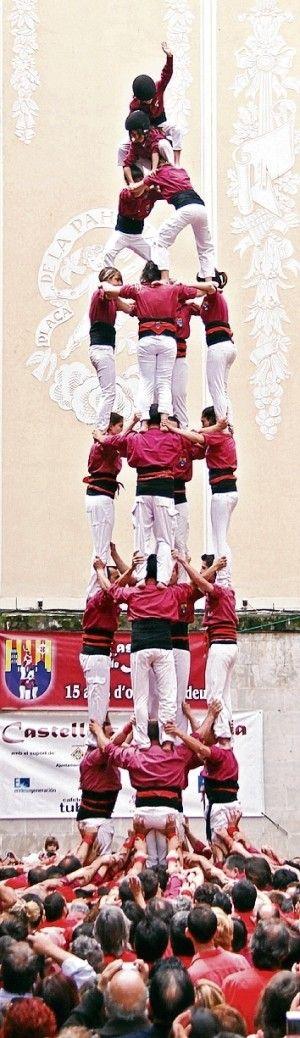 Castillo humano Lleida