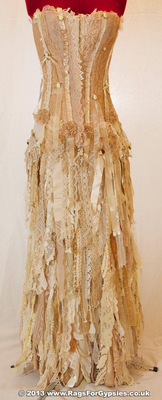 Exquisite Gypsy Esmeralda Ragged Tattered Long by RagsForGypsies