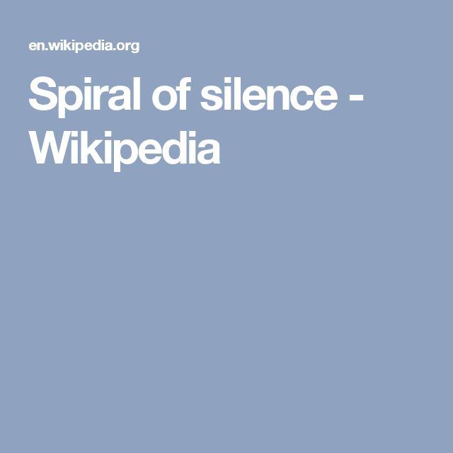 Spiral of silence - Wikipedia