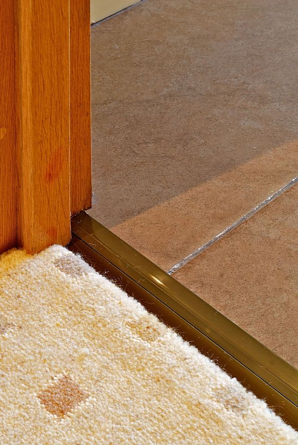 Posh Door Threshold In Solid Brass, Finished With An Antique Brass Effect  From Carpetrunners. Stair RodsAntique ...
